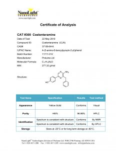 300 Coelenteramine COA