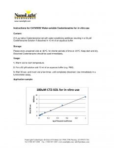 3032 manual for CTZ-SOL in vitro