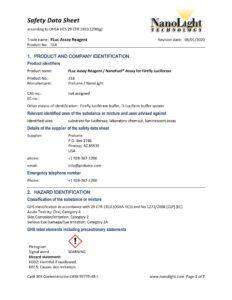 318_Firefly Luciferase Assay Reagent_SDS_06-2020
